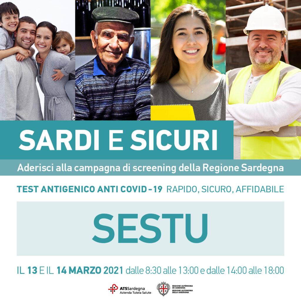 Sardi e sicuri: conclusa la campagna di screening che ha coinvolto anche Sestu nei giorni 13 e 14 Marzo 2021