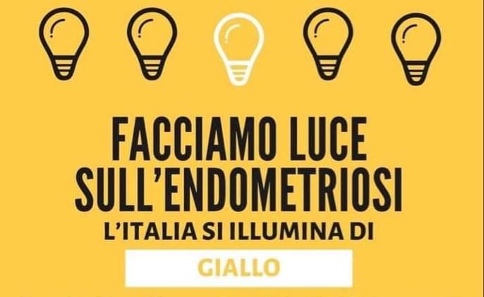 27 marzo 2021 – Giornata mondiale per la sensibilizzazione sull'Endometriosi. L'Italia si illumina di giallo